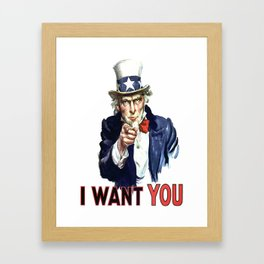 Uncle Sam I Want You Framed Art Print