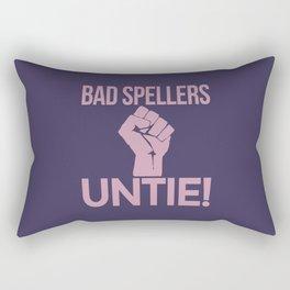 BAD SPELLERS UNTIE! (Purple) Rectangular Pillow