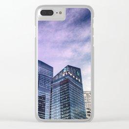Singapore Buildings Clear iPhone Case