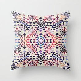 Sri Yantra  / Sri Chakra Pattern - Paint texture Throw Pillow