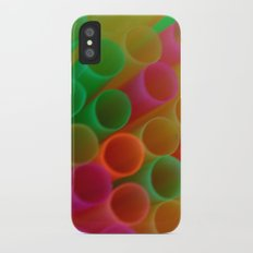 Colorful Straws Photo Slim Case iPhone X