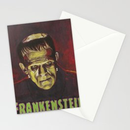 Frankenstein 1931 Boris Karloff In Color With Text Logo Stationery Cards