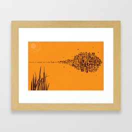 Swarm of B's Framed Art Print
