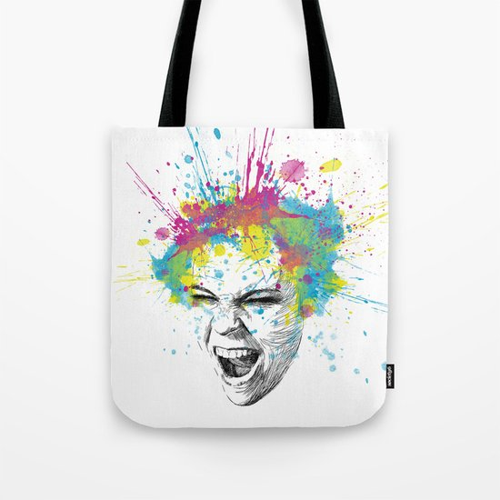 Crazy Colorful Scream Tote Bag