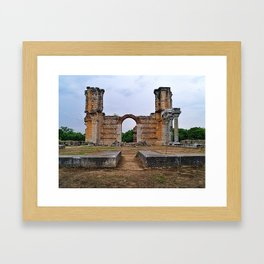 Christian temple ruins in the Ancient site of Filipoi, in Kavala, Macedonia Greece. Framed Art Print