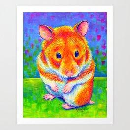 Rainbow Hamster Art Print