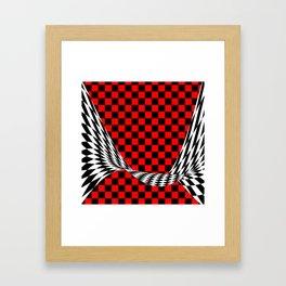 Schwarz rot weiss Framed Art Print
