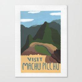 Visit Machu Picchu Canvas Print