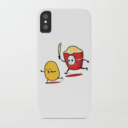 Funny Fries Horror Halloween graphic - perfect gift iPhone Case