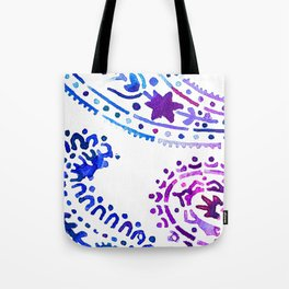 Henna Watercolor Design Tote Bag