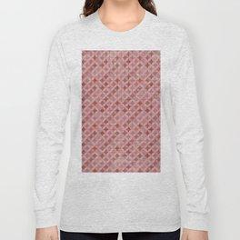 Vintage chic pink red geometrical quatrefoil pattern Long Sleeve T-shirt