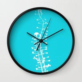 Turquoise Shepherd's Purse Wall Clock