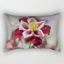 aquilegia flower in bloom in the garden Rectangular Pillow
