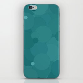 Teal Bubble Dot Color Accent iPhone Skin