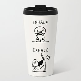 Inhale Exhale Beagle Travel Mug