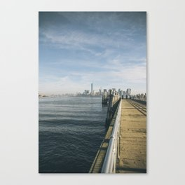 NY Skyline from Liberty Island Canvas Print