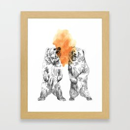 Bear Brain Framed Art Print