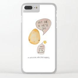 Say No to Animal Cruelty Say No Eggs - Vegan Art Decor Clear iPhone Case