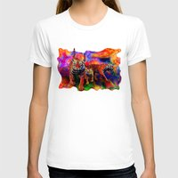 tigers T-shirts featuring Psychedelic Tigers by JT Digital Art