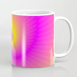 Pink and Yellow Spiral Coffee Mug
