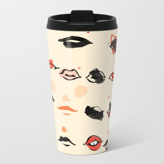 Lips Metal Travel Mug