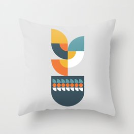 Geometric Plant 01 Throw Pillow