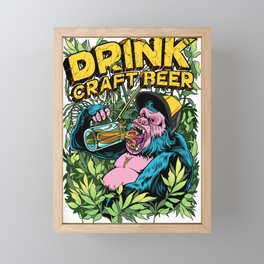 Drink Craft Beer Framed Mini Art Print
