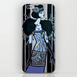 Melancholic flapper iPhone Skin