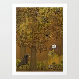 The Queen of Bees and the Princess who loved Honey Art Print