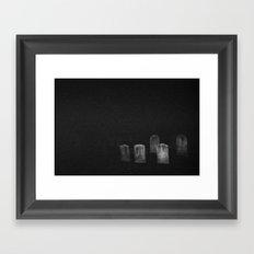 5 Stones Framed Art Print