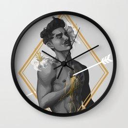 A HEART OF GOLD Wall Clock