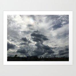 Intense Clouds Art Print