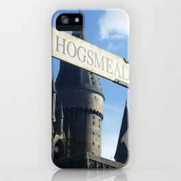 Hogsmeade Signpost iPhone Case