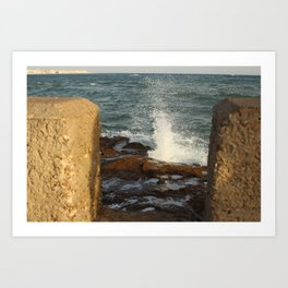 Sunset in Cádiz Art Print