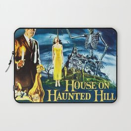 House on Haunted Hill, vintage horror movie poster Laptop Sleeve