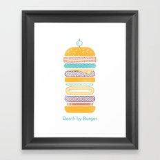 Death by Burger Framed Art Print