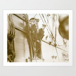 Officers Aboard The Constitution, Newport, Rhode Island Art Print