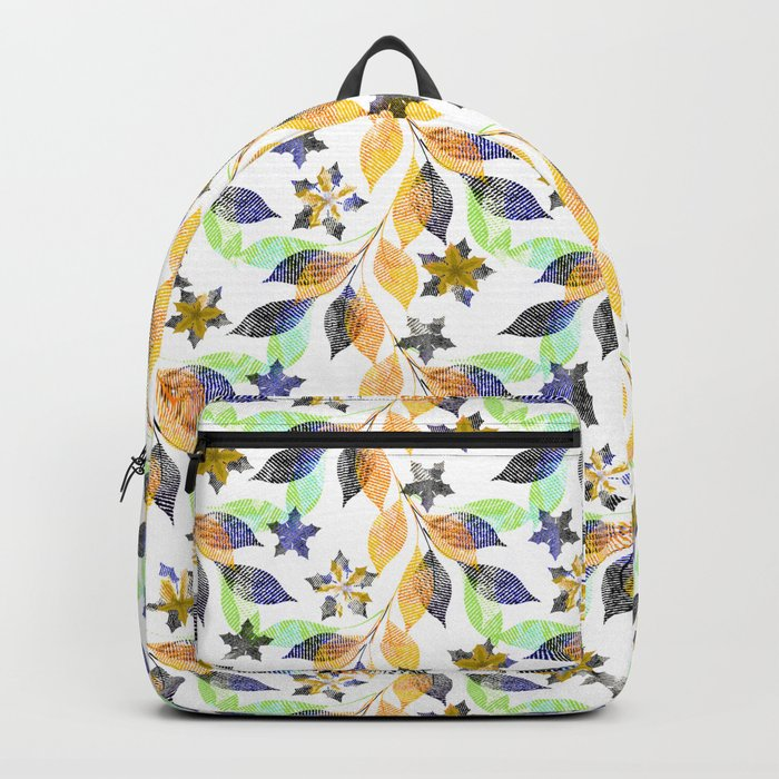 Autumn leaves. Backpack