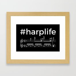 #harplife (dark colors) Framed Art Print