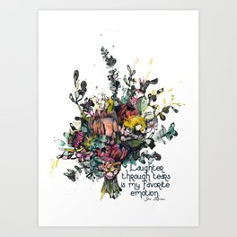 Laughter Bouquet Art Print