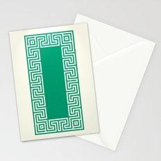 Greek Key emerald Stationery Cards