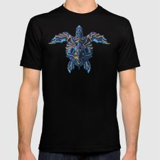 Sea Turtle (Color Version) MEDIUM Black Mens Fitted Tee