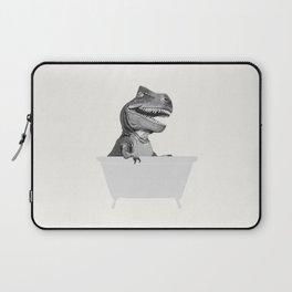 Vintage T-Rex in Bathtub Laptop Sleeve