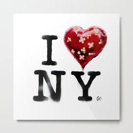 Banksy * I Love New York Metal Print