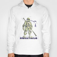 teenage mutant ninja turtles Hoodies featuring Donatello, Teenage Mutant Ninja Turtles by Carma Zoe