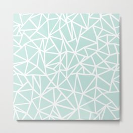 Ab Outline Thick Mint Metal Print