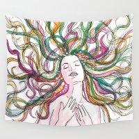 venus Wall Tapestries featuring venus by Beth Jorgensen