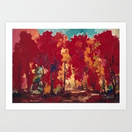 Strange Day in a Forest Art Print