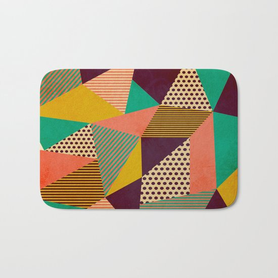 Geometric Love II Bath Mat