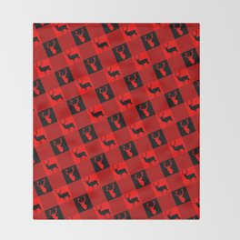 Christmas Deer Buffalo Plaid Throw Blanket